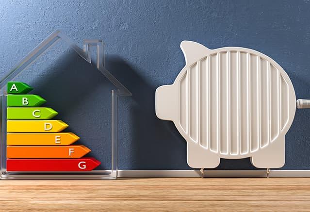 étiquettes énergétique et cochon